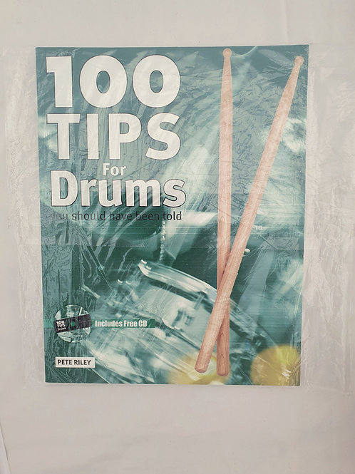 100 TIPS FOR DRUMS YOU SHOULD HAVE BEEN TOLD (BOOK AND CD) Pete Riley
