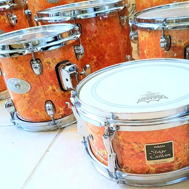Lava Glow Custom Drum Wrap