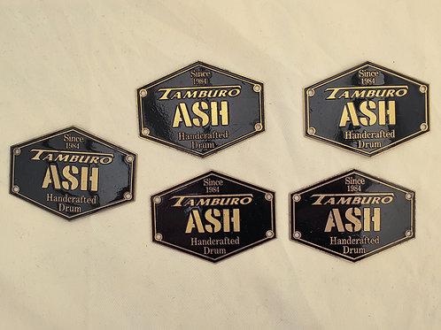 5 x Tamburo Ash Drum Badges