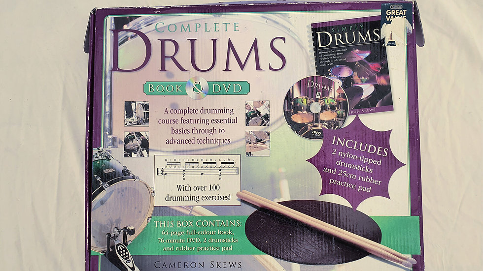 Complete Drums Book & DVD (A complete drumming course)