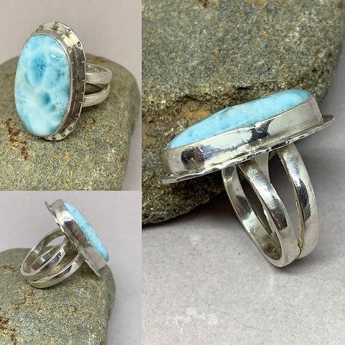 Larimar ring Sterling silver 925