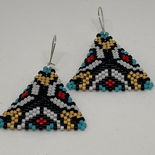Bead Stitched Earrings - South of the Border