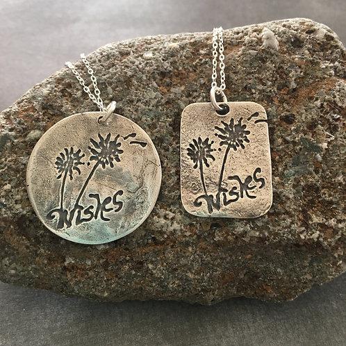 "Sterling Silver ""Sentiments"" wearable art pendant"