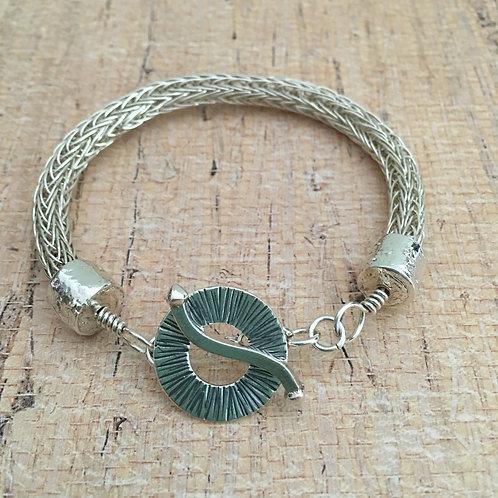 Sterling Silver Viking Knit Bracelet