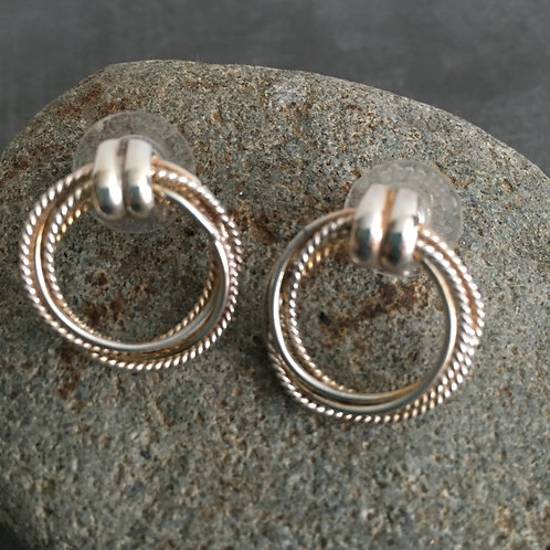 Endless Love Sterling Silver Argentium Hoop Earrings
