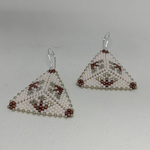 Bead Stitched Earrings -Follow the  Path