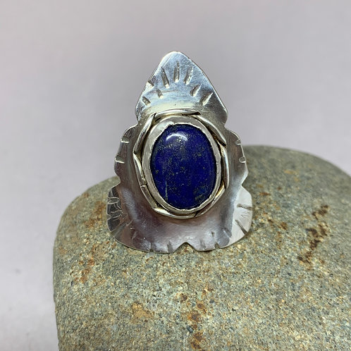 Princess Warrior Sterling Silver Ring Size 9