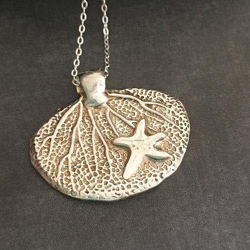 Starfish Sterling Silver Pendant