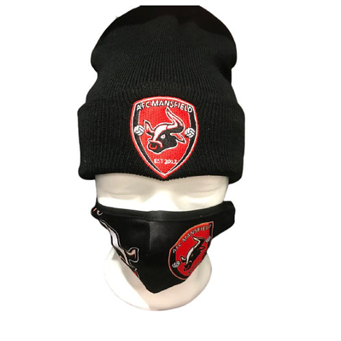 AFC Mansfield beanie hat and facemask bundle