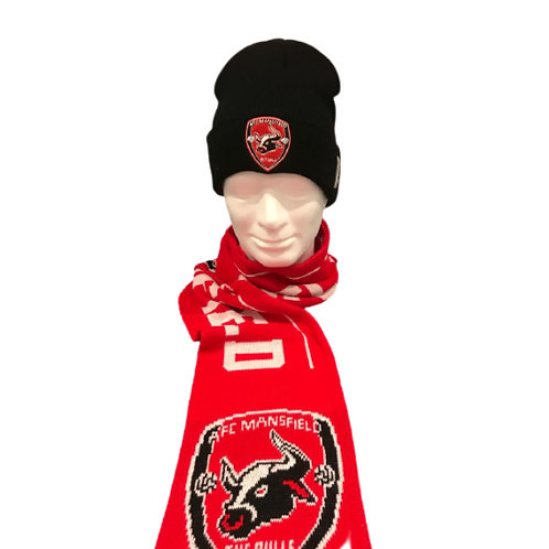AFC Mansfield hat and scarf bundle