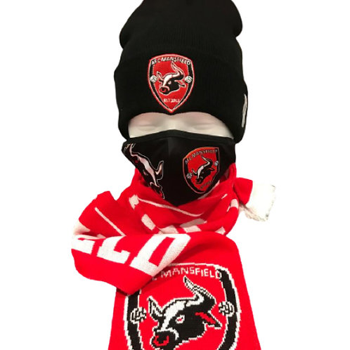 AFC Mansfield official hat scarf and facemask bundle