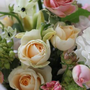 春のお花で退職のお祝い