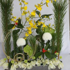 お正月の花はパラレルで!
