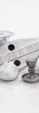 Untitled, Drawing 1, Still Life 3, Charc
