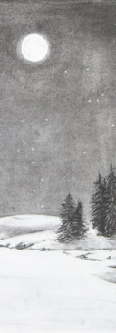 Untitled, Drawing 1, Landscape with Moon