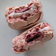 The insides of my macarons
