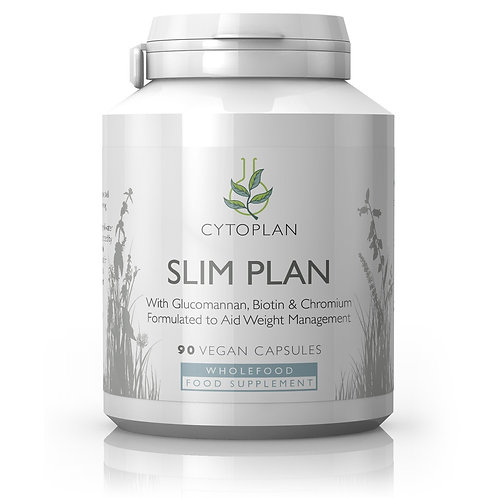 Slim Plan - Glucomannan powder,  Biotin and Chromium