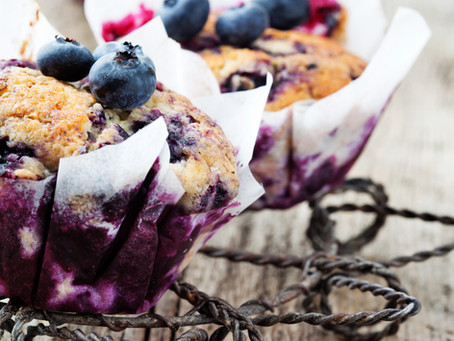 Lemon and Blueberry Muffins #LCHF #Sugarfree #Keto