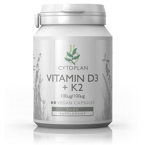 Cytoplan Vitamin D3 + K2  60 Capsules-