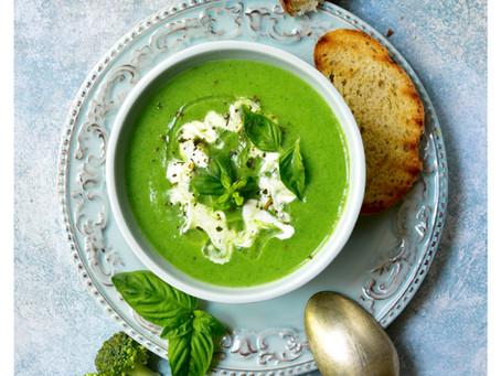 Courgette, Broccoli and Feta Soup