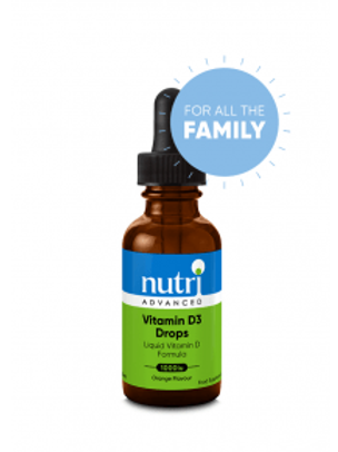 NutriAdvanced Vitamin D3 drops 1000iu