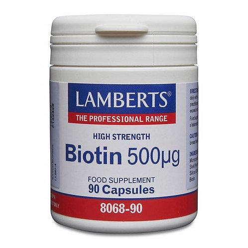 Biotin 500ug -90 Capsules
