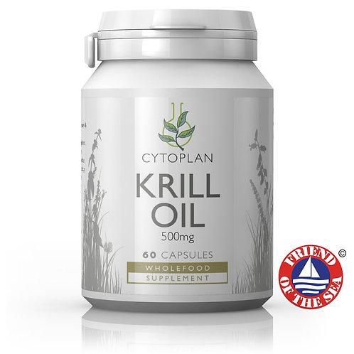 Cytoplan Krill Oil 500mg (Omega 3 Fish Oil) 60 capsules