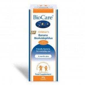 BioCare Children's Banana BioAcidophilus 60g Powder
