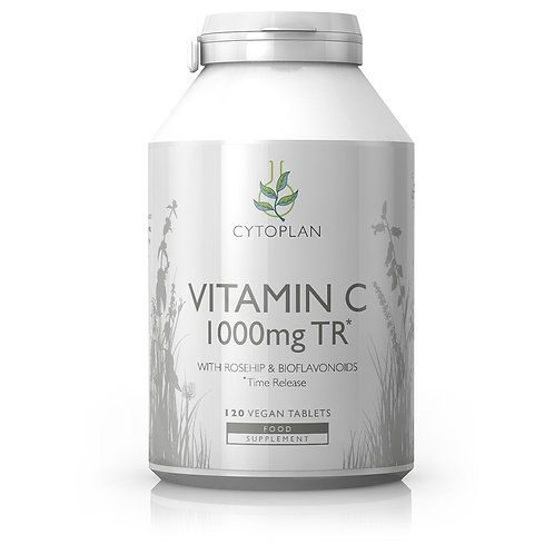 Cytoplan Vitamin C 1000mg TR - 120 Capsules (Suitable for Vegans)