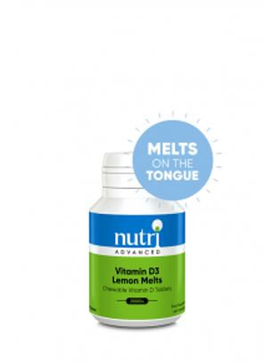 NutriAdvanced Vitamin D3 Lemon Melts 120 Tablets