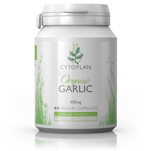 Cytoplan Organic Garlic 400mg 60 capsules
