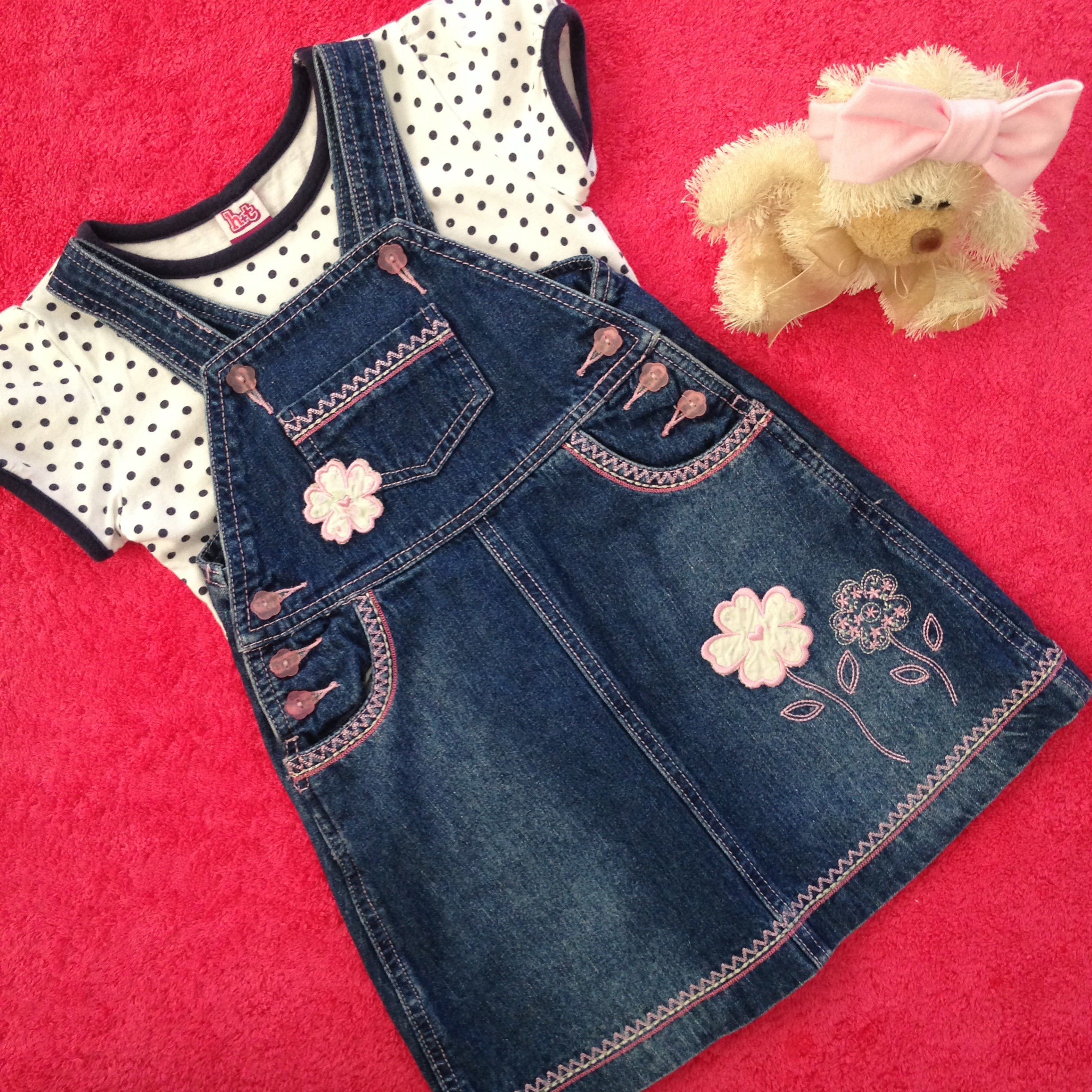 a5f800f25 Mix & Match - 2 Piece - Pumpkin Patch Pinafore Dress & Top - Baby Girl's  Size 3 | Baby B Jazz