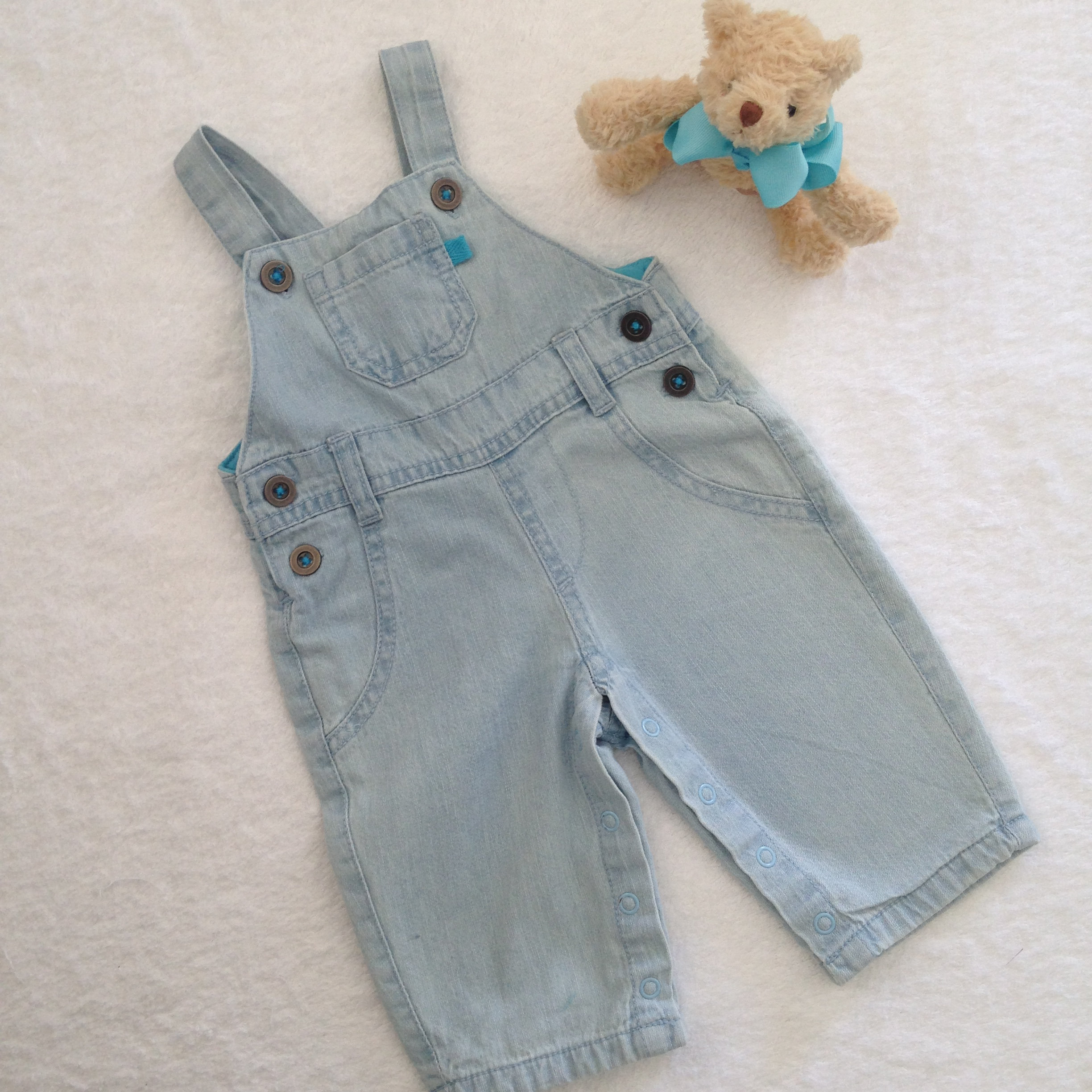 a9056d8a6 Baby Berry Denim Overalls - Baby Boy's Size 000 | Baby B Jazz
