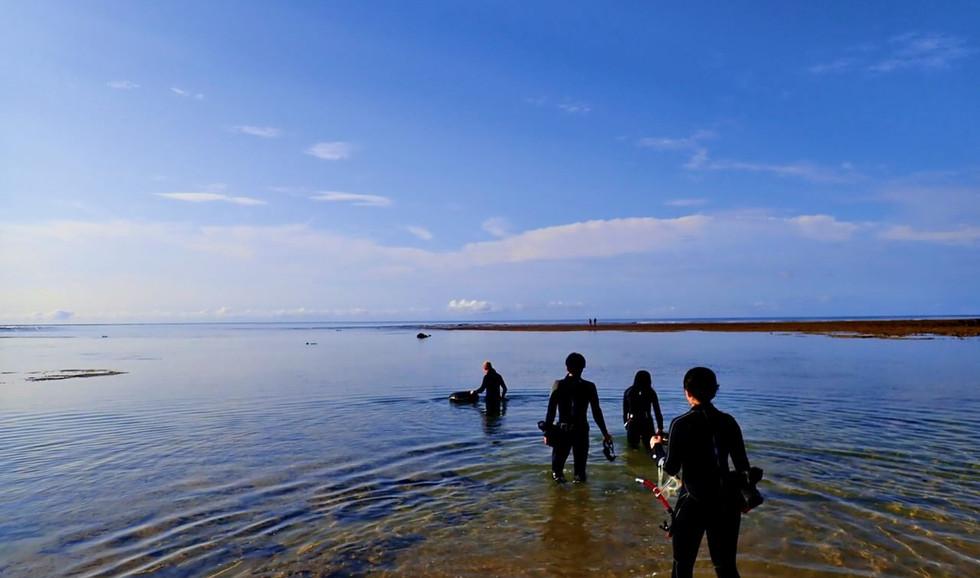 安心なビーチエントリー easy beach-entry