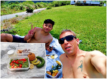 snorkeling tour lunch and snack ishigaki