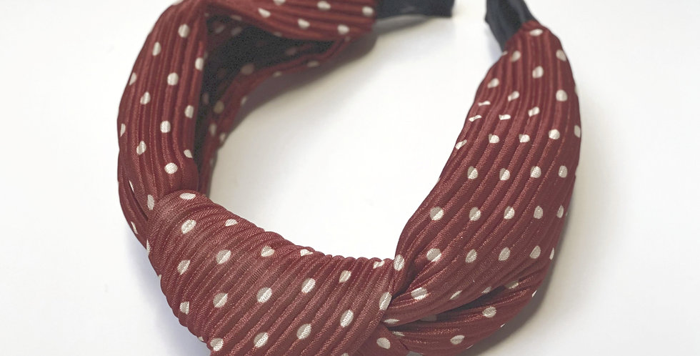 Brown Knotted Headband
