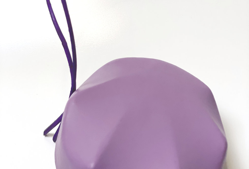 Lilac Leather Shell