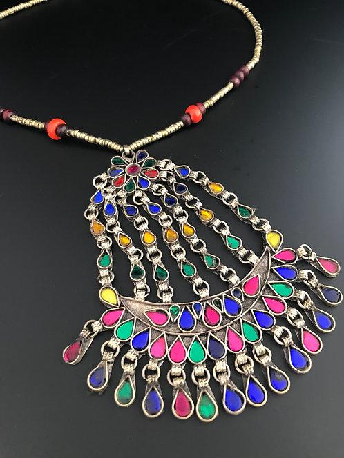 Kuchi Tribal Afghan Pendant Necklace