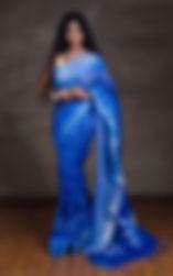 Linen Saris, Digial Print Linen Sari