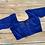Ink Blue Designer Saree Blouse in Size 34