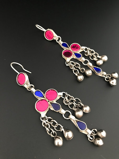 Kuchi Earrings With Glass Stones