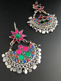 Afghan Tribal Glass Boho Earring