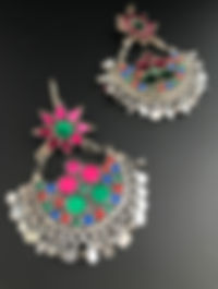 Afghan Tribal Glass Boho Earring
