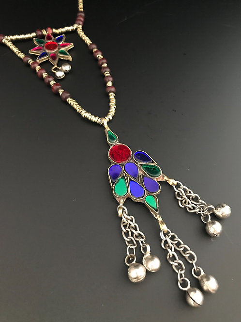 Afghan Tribal Pendant Necklace