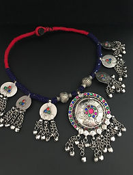 Handmand Afghan Tribal Boho Necklace