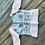 Pure Jamdani Hand Embroidered Baby Pink and White Kurti Blouse in Size Medium