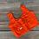 Orange Sleeveless Designer Saree Blouse in Size 34