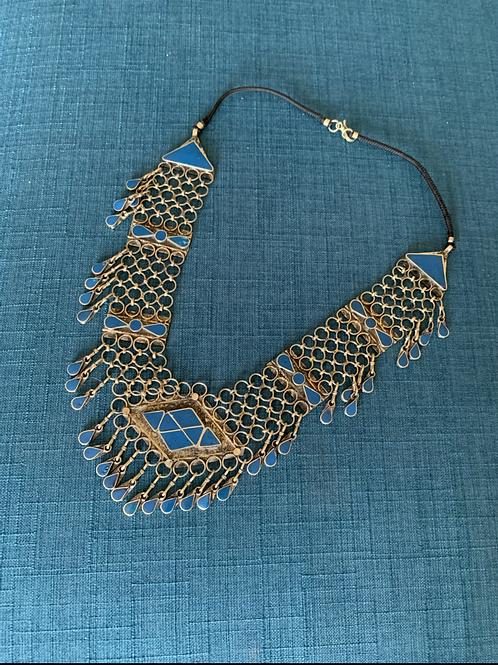 Handmade Tribal  Afghan Long Necklace