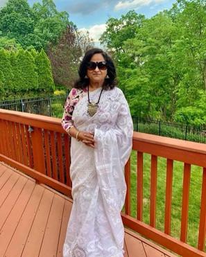 Bengal Looms Client Diaries: Sudipta di looking absolutely fabulous in her White Dhakai Jamadani Saree from Bengal Looms.898_38360943785318