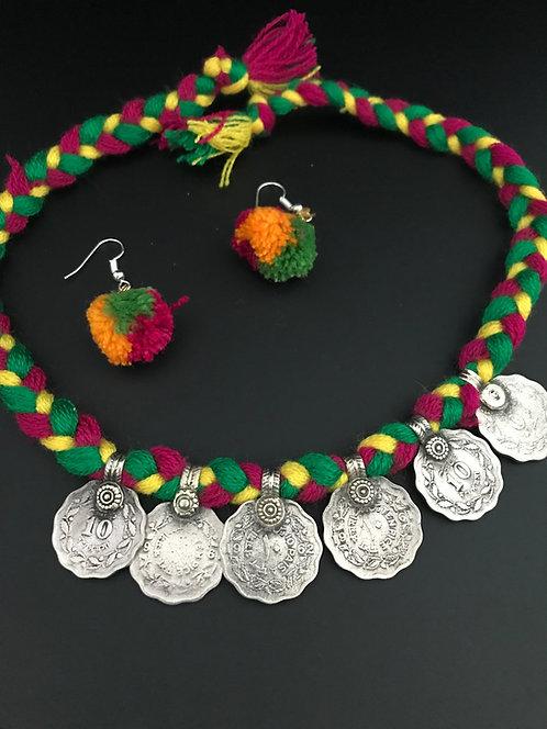Kuchi Coin Pendant Set